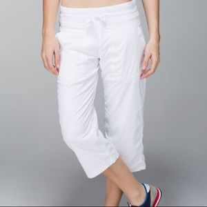 Lululemon Athletica Studio Crop White chanel pants